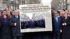 Israelsk avis fjernet Merkel fra bilde - Aftenposten