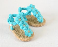 New CROCHET PATTERN  Baby Sandals with Little by matildasmeadow