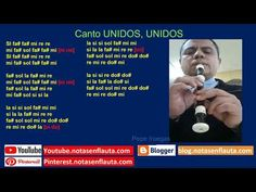 Canto UNIDOS, UNIDOS Notas para Flauta Instagram, Flute, Report Cards, Sweet