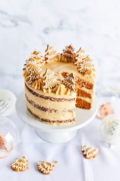 Make Ahead Desserts, Delicious Desserts, Dessert Recipes, Easy Homemade Cookies, Healthy Sweets, Winter Food, Let Them Eat Cake, Amazing Cakes, Cookie Decorating