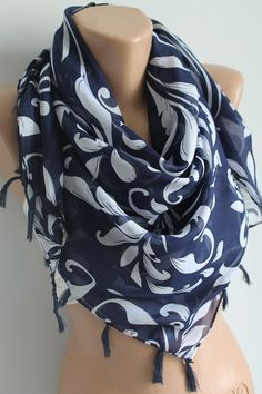 Hey, I found this really awesome Etsy listing at https://www.etsy.com/listing/98787751/navy-blue-square-scarf-tassel-oversize