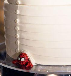 Spide-y geek wedding cake