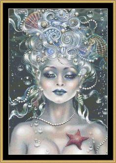 Sea Pearl [MG-110] - $16.00 : Mystic Stitch Inc, The fine art of counted cross stitch patterns