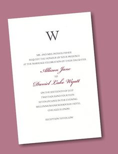 Create Your Own Wedding Invitation Suite 74