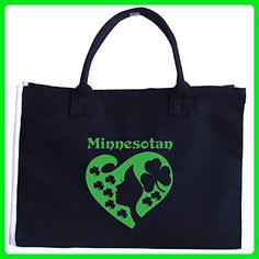 Minnesotan St Patrick Day Girl Heart Irish Green - Tote Bag - Top handle bags (*Amazon Partner-Link)