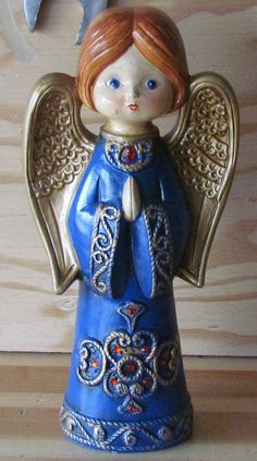 Vintage Christmas Angel Ardco Paper Mache from by YardDogsGarage