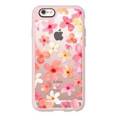 iPhone 6 Plus/6/5/5s/5c Case - Spring Has Sprung Watercolor Floral... (51 CAD) ❤ liked on Polyvore featuring accessories, tech accessories, iphone case, iphone hard case, apple iphone cases, iphone cover case and floral iphone case