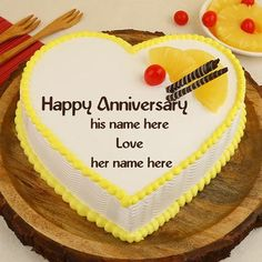 Write name pics on birthday cakes.happy birthday greetings wishes card images with name editing. anniversary wishes greetings card with name editing. write name on love pics online.day wishes with name write Anniversary Cake With Photo, Marriage Anniversary Cake, Happy Wedding Anniversary Wishes, Happy Birthday Wishes Cake, Happy Anniversary Cakes, Work Anniversary, Happy Birthday Dear, Birthday Cakes, Romantic Anniversary