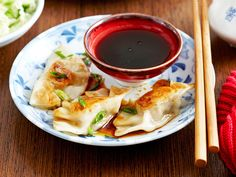 Gyoza are Japanese-style dumplings that are first seared in a pan ...