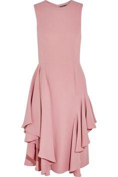 ALEXANDER MCQUEEN Ruffled silk crepe dress