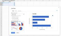 Google Spreadsheets - Google Charts — Google Developers. Create a new spreadsheet at docs.google.com/spreadsheet