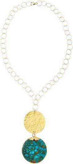 Devon Leigh Howlite Disc Necklace