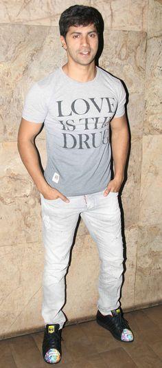 Varun Dhawan at 'Welcome Back' screening. #Bollywood #WelcomeBack #Fashion…