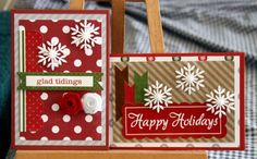 made these christmas cards using echo park paper pack.