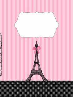 Paris: Free Printable Candy Bar Labels.