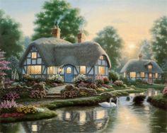 La serenidad de campo II Richard Burns pinturas artesanales