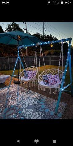Backyard Patio Designs, Backyard Projects, Outdoor Projects, Home Projects, Backyard Makeover, Outdoor Living, Outdoor Decor, Outdoor Swings, Outdoor Furniture