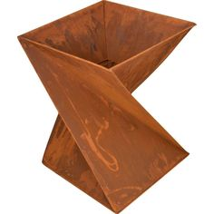 Helix Shape Rustic Outdoor Open Fire Pit 38x50cm | Buy Fire Pits