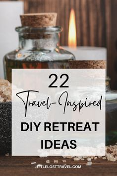 Experience the benefits of wellness travel from your own home with these top self-care tips and retreat ideas from around the world. These DIY ideas are fun and easy to do at home. Retreat Ideas, Responsible Travel, Nooks, Hygge, Cabins, Event Planning, Candle Jars, Cosy, Diy Ideas