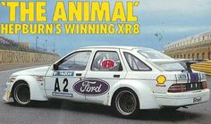 Racing Sierra in South Africa during Hepburn drove it. Ford Sierra, Ford Rs, Car Ford, Sport Cars, Race Cars, V8 Cars, South African Rugby Players, Ford Motorsport, Mid Size Car