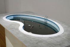 "Callum Morton, ""Pool Table,"" 2006 wood, concrete, epoxy resin, fibreglassed polystyrene, plastic, fabric, paper and acrylic paint"