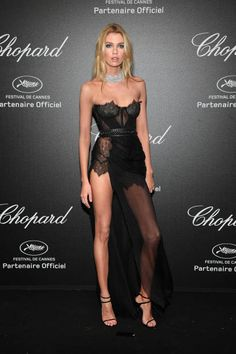 Stella Maxwell attends Chopard Secret Night during the 71st annual Cannes Film Festival at Chateau de la Croix des Gardes on May 11 2018 in Cannes...