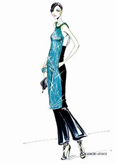 Giorgio #Armani Kaleidoscope collection sketch