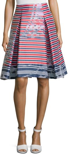 The pleat: It is back and you don't have to be afraid of it! Who knew! And you can go shorter and a lil funkier with this  Carolina Herrera Skinny-Stripe Pleated Skirt