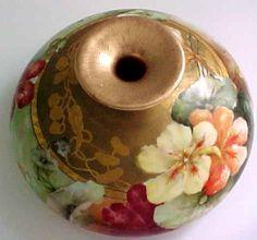 Rare+Antique+Victorian+Squat+Limoges+Hand+Painted+Vase+William+Guerin+c1900+L110