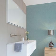 Paintable wallpaper is a great option for bathrooms as it can be made waterproof.