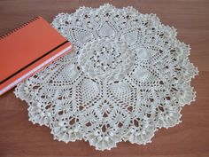 Big textured doily 14 inches Pineapple song by CrochetedCosiness
