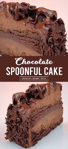 Chocolate Spoonful Cake #dessert #chocolate