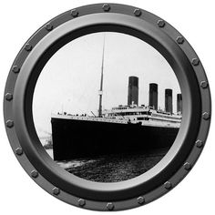 The Titanic Porthole Wall Decal – Inkwood Impressions Vinyl Wall Decals, Wall Stickers, Boy Room, Kids Room, Titanic Ship, Space Theme, Color Change, I Shop, This Or That Questions