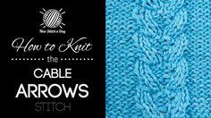 The Cable Arrows Stitch :: Knitting Stitch #220 :: New Stitch A Day