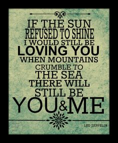 Led Zeppelin Thank You lyric Art Quote 8X10 by paperlovespen, $15.00