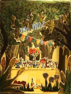 Cajita fiesta en el bosque / Small box party in the by marshop