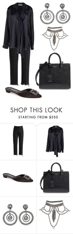 """Bed time"" by blayne26 ❤ liked on Polyvore featuring Rachel Comey, Acne Studios, Manolo Blahnik, Yves Saint Laurent and Chanel"