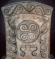 Endless Knot Picture Stone from Iron Age Fornsalen Visby Sweden-Viking influence on Ireland.