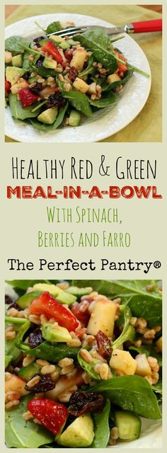 Toss lots of red and green fruits and vegetables in a bowl for this great winter salad! #vegan