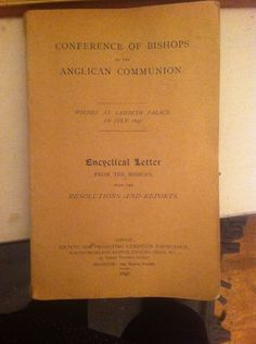 Conference Of Bishops First Addition 1897 Antique