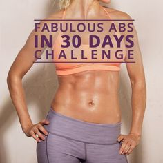 30-Days to Fabulous Abs -You'll love this 6-Move ab routine done Tabata style. Quick workouts can be just as effective as longer ones, if done correctly. Includes FREE tips on getting flat abs. #flatbelly #abworkouts #workoutchallenges