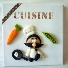 tableau cuisinier en porcelaine froide