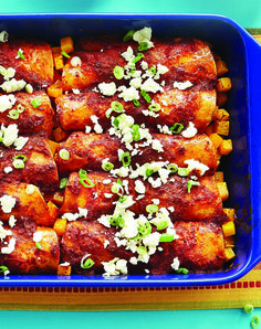 Butternut Squash Enchiladas - Clean Eating - Clean Eating. Add finely ground beef!