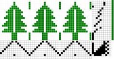 "I saw this pine trees pattern in the November/December 2009 Handwoven Magazine, page They were designed by Karen Tenney and called ""Ho. Inkle Weaving, Inkle Loom, Hand Weaving, Christmas Towels, Christmas Placemats, Weaving Designs, Weaving Projects, Tree Patterns, Loom Patterns"