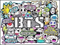 #BangtanBoys #BTS #Bangtansonyeondan #방탄소년단 #Jungkook #RapMonster #V #Jimin #Jin #Suga #jhope #doodle #likeforlike #followme