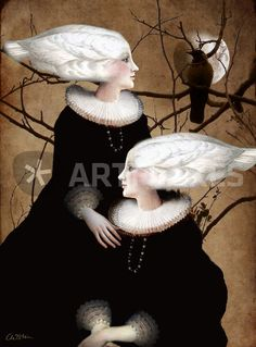 """""""Soul Sister"""" Graphic/Illustration art prints and posters by Catrin Welz-Stein - ARTFLAKES.COM"""