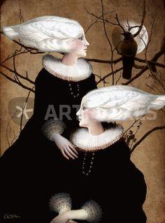 """""""Soul Sister"""" Grafik/Illustration als Poster und Kunstdruck von Catrin Welz-Stein bestellen. - ARTFLAKES.COM"""