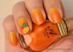 citrus theme nail art