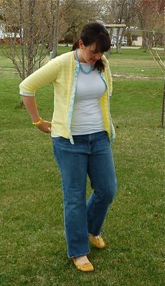 Sweater to cardigan refashion. Awesome idea. You could also add fabric flowers. I was thinking it might be a great way to change a shirt/sweater - what if you cut it open like the tutorial, but instead of making it a cardigan you added a section of fabirc or ribbon then closed it back up? Great way to repurpose a too small shirt or fix a stained area!