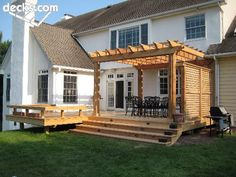 Small Backyard Deck Ideas 20 timber decking designs that can append beauty of your homes Knotty Cedar And Rough Cut Cedar Pergola Cedar Pergoladeck Pergolapergola Ideaslandscaping Ideasbackyard